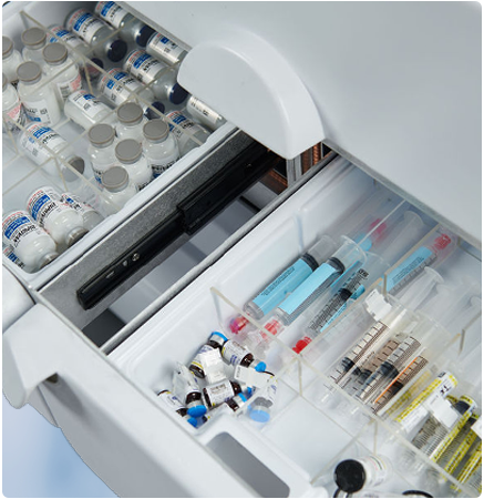 The IntelliGuard Anesthesia Station has 47% more storage space - interior view