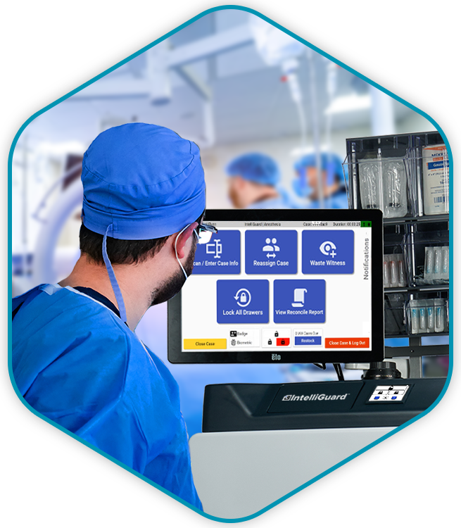 The IntelliGuard Anesthesia Station has an intuitive workflow- image