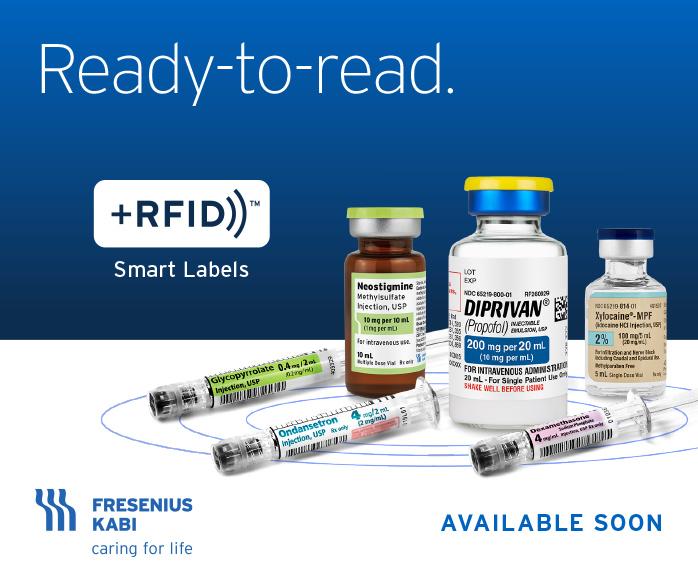 Fresenius Kabi +RFID Available Soon digital banner